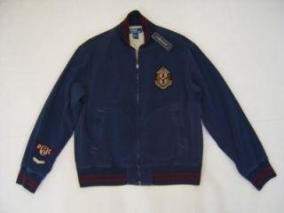WTG Polo Ralph Lauren XL Zip Aviator Sport Jacket Shield Lined Varsity