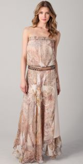 Haute Hippie Strapless Maxi Dress