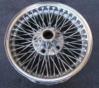 Jaguar XJ XJ6 XJ12 XJS XKE Sovereign Dayton Chrome Wire Wheels 15x7