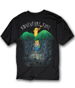 Network Adventure Time Spooky Forest Finn Jake T Shirt S
