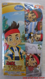 Jake and The Neverland Pirates Boys 2T 3T 4T Briefs 7 Pairs Underwear