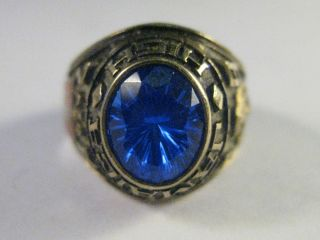 Estate 10K Gold Jamaica Queens NY High School Class Ring 1978 Enamel