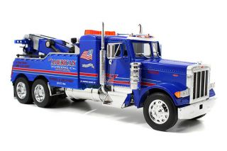 Jada Toys Road Rigz Peterbilt 379 Model Tow Truck Blue J M Towing 1 32