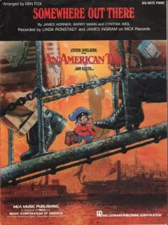 1986 James Horner Film Song An American Tail Somewhere Out There by