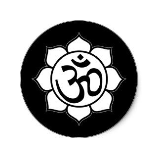 Lotus Flower Aum Symbol Stickers