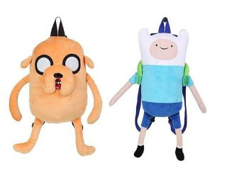 Adventure Time Finn and Jake Plush Doll Backpack Bag Purse Tote LARGE