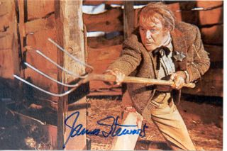 James Stewart Color Movie Scene Autographed