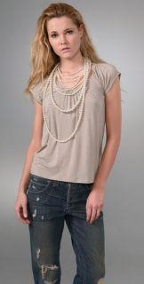 alice + olivia Pretty Pearl T Shirt