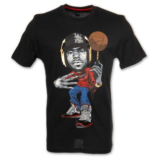 Nike Lebron James Dri Fit Comic Mens T Shirt Black Size XXL