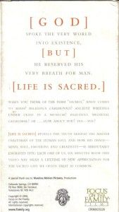 Life Is Sacred from Very Beginning Dr James Dobson