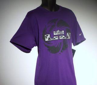 New Nike Dri Fit Lebron King James Crown Mens T Shirt XL Basketball