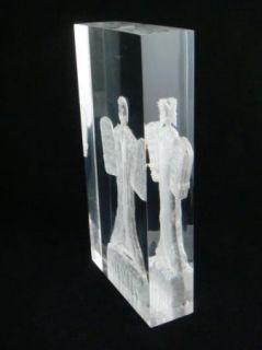 Cox Signed Acrylic Sculpture Moses Ten Commandments