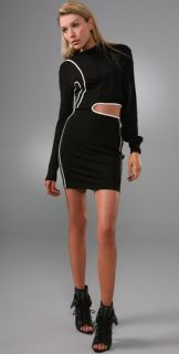 Alexander Wang Asymmetrical Long Sleeve Sweatshirt Dress