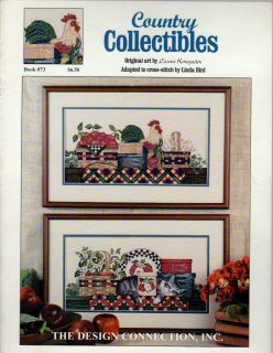 COUNTRY COLLECTIBLES BY LINDA BIRD THE DESIGN CONNECTION CROSS STITCH