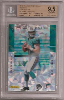 Ryan Tannehill 2012 Panini Fathers Day Packs RC Cracked Ice BGS 9 5 w