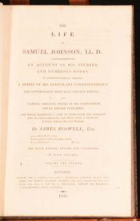 Life of Samuel Johnson James Boswell Biography Baldwin Leighton