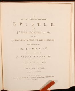 eighteenth century edition of this satirical poem on James Boswell