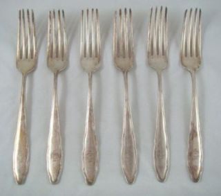 Vintage Flatware Silver Plate WMF 90 Pattern WMF10 Mixed 8PC Table