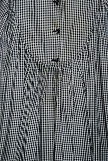 Couture Black White Plaid Pleated Silk Tunic Shirt by Galanos