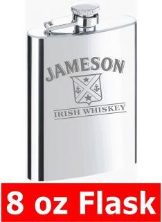 Jameson Irish Whiskey 8oz Flask Groomsman Best Man