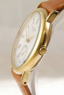 Elegant Accurist Sub Second Gold Tone Quartz Gents Watch O37