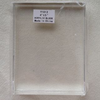 Close to My Heart Y1012 4x 5 Acrylic Block New Stamp Mount SEALED