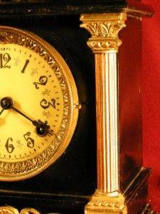 Fancy Antique New Haven Company Clock Circa 1900 Great Gift Runs