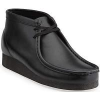 Clarks Wallabee 35401 Black Leather Men Boot Shoe Retail Price $170