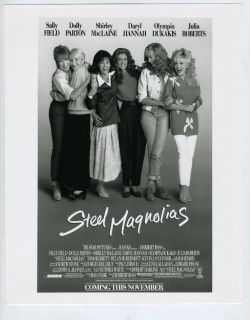 MacLaine Julia Roberts Dolly Parton Sally Field Steel Magnolias