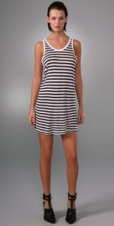 T by Alexander Wang Striped Baggy Tank Dress