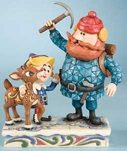 Rudolph The Red Nosed Reindeer Yukon with Hermey Figurine Jim Shore x