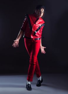 Kindly modeled by Peggy Wolf (Female Michael Jackson Impersonator)