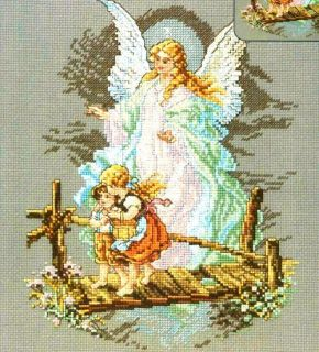 Janlynn Counted Cross Stitch Kit 7 x 10 Guardian Angel Sale 1149 14