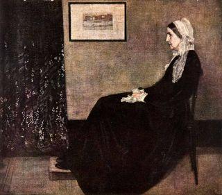 1939 Tipped in Print James Whistler Mother Portrait Tonalism Bonnet