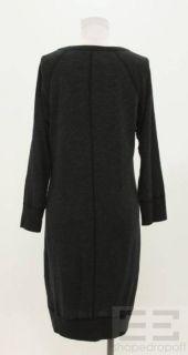 James Perse Standard Dark Grey Knit Sweater Dress Size 3
