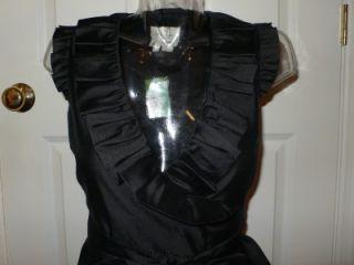 Kate Spade Black Essentials Aubrey Wrap Silk Dress 00