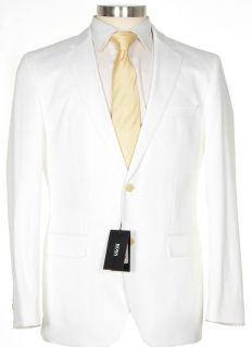 695 Hugo Boss The James Sharp2 40R 50R Mens White Stretch Cotton
