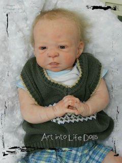 Reborn Baby Boy Infant OOAK Doll Jamie Olga Auer Sculpt