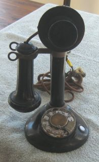 Antique Stromberg Carlson Intercom Rotary Candlestick Phone Conn. Tel