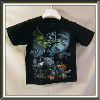 James Cameron Avatar Boys Black Short Sleeve T Shirt Size 6 7
