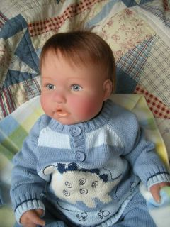 Reborn Berenguer Baby Boy Doll Jameson Blue Eyes Angel Face Dinosaur