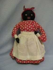 ½ Antique Black Cloth Doll from Jane Withers Collection with