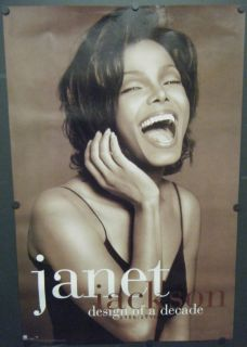 Janet Jackson Promo Poster Design of A Decade 1986 1996