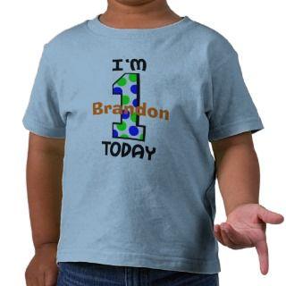Add Your Childs Name 1st Birthday Shirt