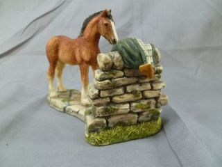 Border Fine Arts James Herriot Curiosity JH81 Horse Statue