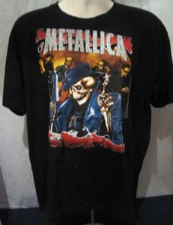 Metallica T Shirt XL James Hetfield Lars Ulrich Hammett