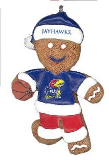 Kansas Jayhawks NCAA Gingerbread Man Person Resin Christmas Ornament