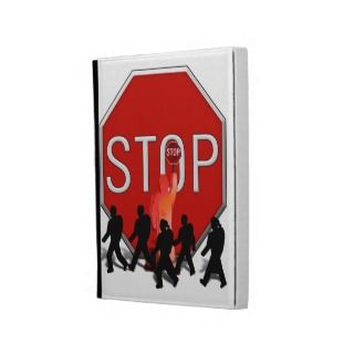 Crossing Guard w/Kids & Stop Sign iPad Cases