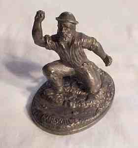 Antique Metal Sculpture James Marshall Gold Rush Miner