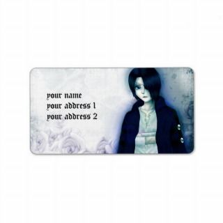 Cute anime emo boy address labels for your text